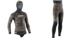 two piece wetsuite for spearfishing