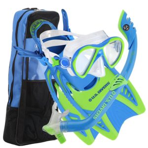 U.S. Divers Youth Flare Jr Silicone Snorkeling Set