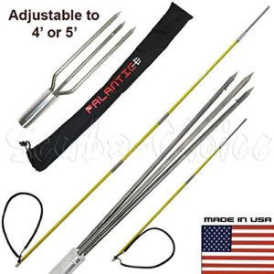 Scuba Choice Spearfishing Travel Pole Spear Hawaiian Sling with 3 Prong and Lionfish Tips Set