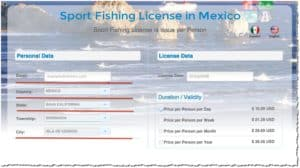 Sports Fishing License in Mexico